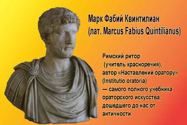 Марк Фабий Квинтилиан (лат. Marcus Fabius Quintilianus