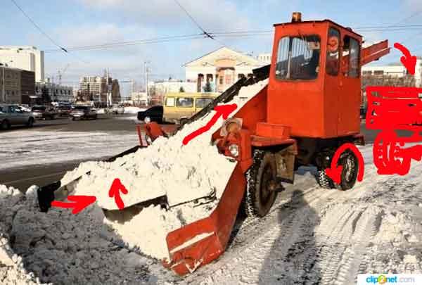 Снегоуборочная-машина